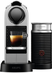 Krups Nespresso XN761B CitiZ & Milk Silber Kapselmaschine inkl. Aeroccino