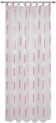 Vorhang mit Schlaufen und Band Alexa B: 140cm, Rosa/Weiß