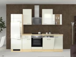 Küchenblock in Perlmutt inkl. Geräte und Spüle 'Abaco'
