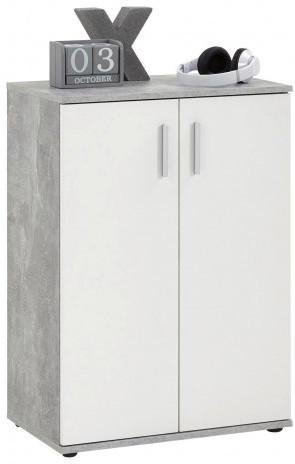 Kommode Beton Optik/weiß 60cm