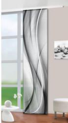 Schiebevorhang Batik, schwarz-weiß, ca. 60 x 245 cm