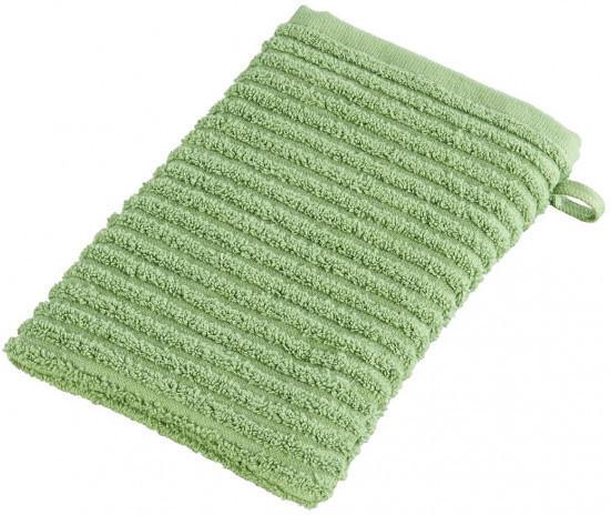 Waschhandschuh Manhattan grün 15 x 21 cm