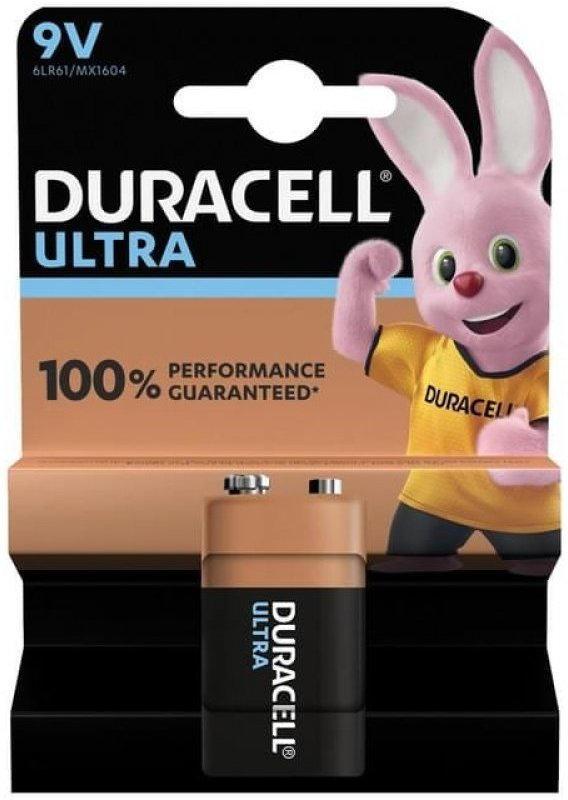 Duracell Ultra 9V (MN1604/6LR61) K1 mit Powercheck Block Blister 1