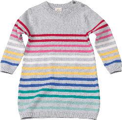 ALANA Kinder Kleid, Gr. 98, in Bio-Baumwolle, grau, bunt