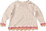 dm-drogerie markt ALANA Kinder Pullover, Gr. 104, in Bio-Baumwolle, beige