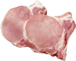 Frisches Schweinestielkotelett oder Filetkotelett in Scheiben geschnitten,   je 1 kg