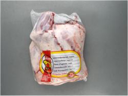 Lammbraten aus dem Vorderviertel mit Knochen oder Lamm-Vorderviertel in Scheiben, gefroren, je 1 kg