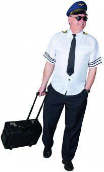 Kostüm - Pilot - für Erwachsene - 2-teilig - verschiedene Größen 52/54