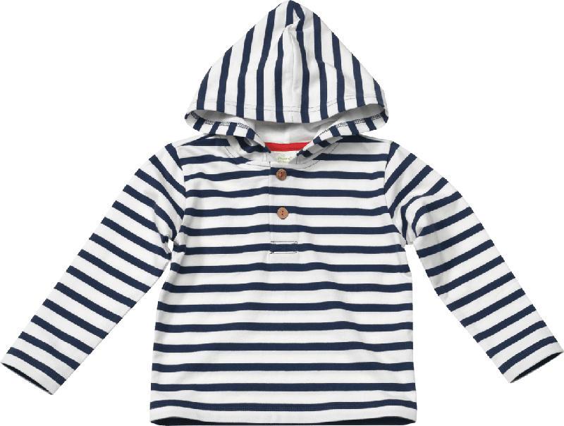ALANA Kinder Sweatshirt, Gr. 98, in Bio-Baumwolle, weiß, blau