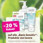 """denn's Biomarkt -20% auf alle """"Basis Sensitiv"""" Produkte von lavera - bis 28.01.2020"""