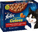 dm-drogerie markt Felix Nassfutter für Katzen, Adult, Multipack, Sensations Gelees Geschmacksvielfalt vom Land