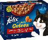 Felix Nassfutter für Katzen, Adult, Multipack, Sensations Gelees Geschmacksvielfalt vom Land