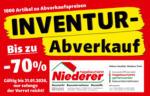 hagebaumarkt Niederer Hagebaumarkt Niederer - Inventurabverkauf - bis 31.01.2020