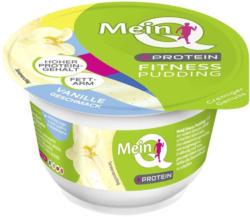 Mein Q Fitness Pudding + Protein Schoko oder Vanille, jeder 150-g-Becher