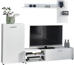 Wohnwand Imola 4 weiß/weiß Hochglanz