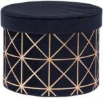 Möbelix Aufbewahrungsbox Pandora M 5 Liter Goldfarben, Dunkelblau