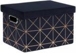 Möbelix Aufbewahrungsbox Pandora M 12 Liter Goldfarben, Dunkelblau
