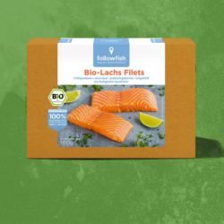 followfish Bio Lachs Filets gefroren, jede 160-g-Packung