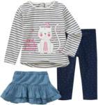 Ernsting's family Baby Langarmshirt, Rock und Leggings im Set