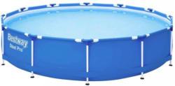 Schwimmbecken Steel Pro Pool Blau, Weiß