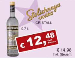 Stolichnaya Vodka Cristall