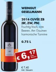 2016 Cuvée zB (Blaufränkisch, Zweigelt, Pinot Noir)