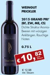 2015 Grand Pri' (Blaufränkisch, Zweigelt, Merlot, Cab. Sauvignon)