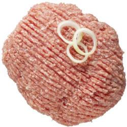 Rinderhackfleisch oder Rinderbeinscheibe je 1 kg
