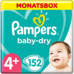 OTTO'S Pampers Baby Dry Gr. 4+, 10-15 kg, Monatsbox, 152 Windeln -