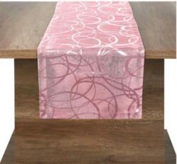 Tischläufer Eaton Circle altrosa 40 x 100 cm