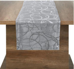 Tischläufer Eaton Circle silber 40 x 160 cm