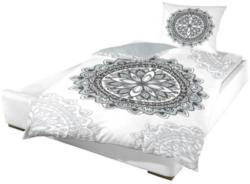 Microfaser Bettwäsche Mandala weiß 135 x 200 cm