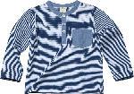 dm-drogerie markt ALANA Kinder Pullover, Gr. 98, in Bio-Baumwolle, blau, weiß