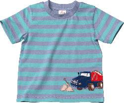 ALANA Kinder Shirt, Gr. 104, in Bio-Baumwolle, blau