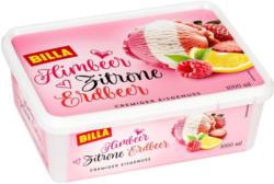 BILLA Himbeer-Zitrone-Erdbeer Eis