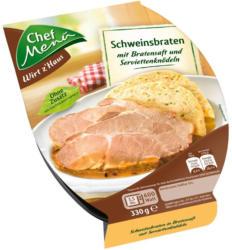 Chef Menü Schweinsbraten mit Serviettenknödeln