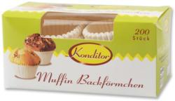 Konditor Muffin Backförmchen Weiß