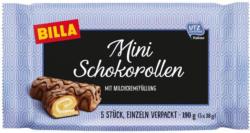 BILLA Mini Schokorollen mit Milchcremefüllung