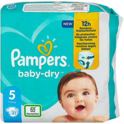 Pampers baby-dry Windeln Gr. 5 (11-16 kg)