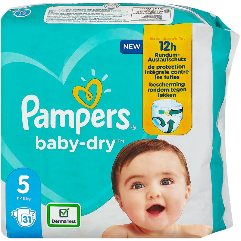 Pampers baby-dry Windeln Gr. 5 (11-16 kg)