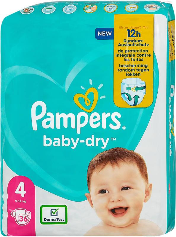 Pampers baby-dry Windeln Gr. 4 (9-14 kg)