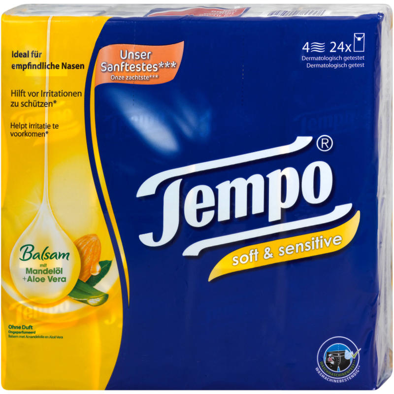 Tempo Taschentücher soft & sensitive plus