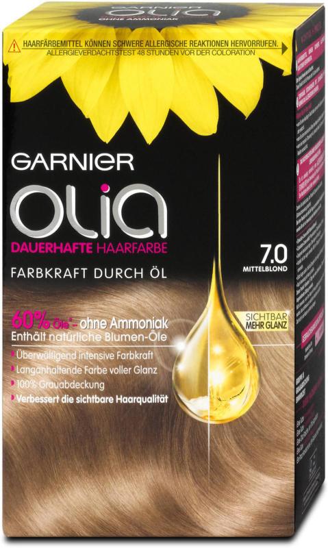Garnier Olia dauerhafte Haarfarbe - Nr. 7.0 Mittelblond