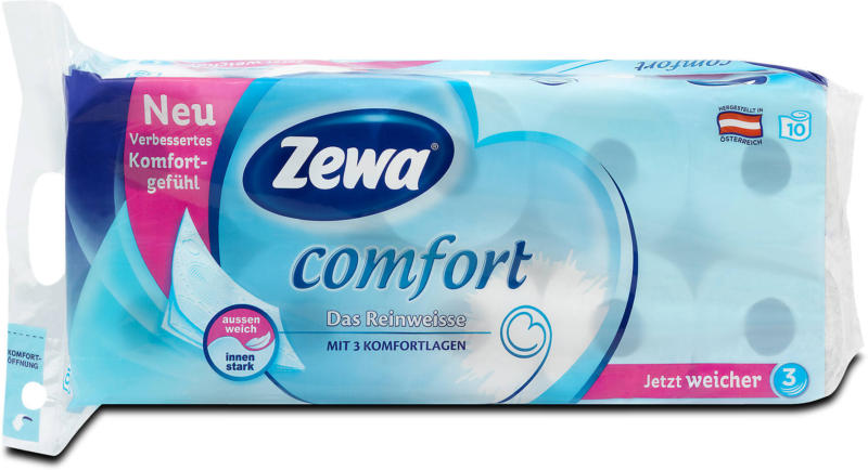 Zewa comfort Toilettenpapier Das Reinweisse 3-lagig