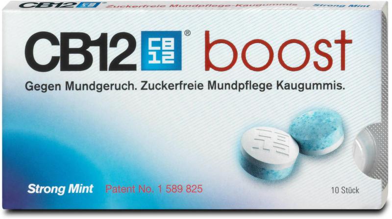 CB12 boost Strong Mint Mundpflege Kaugummi