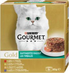 Gourmet Gold Katzenfutter Raffiniertes Ragout, 8 x 85 g