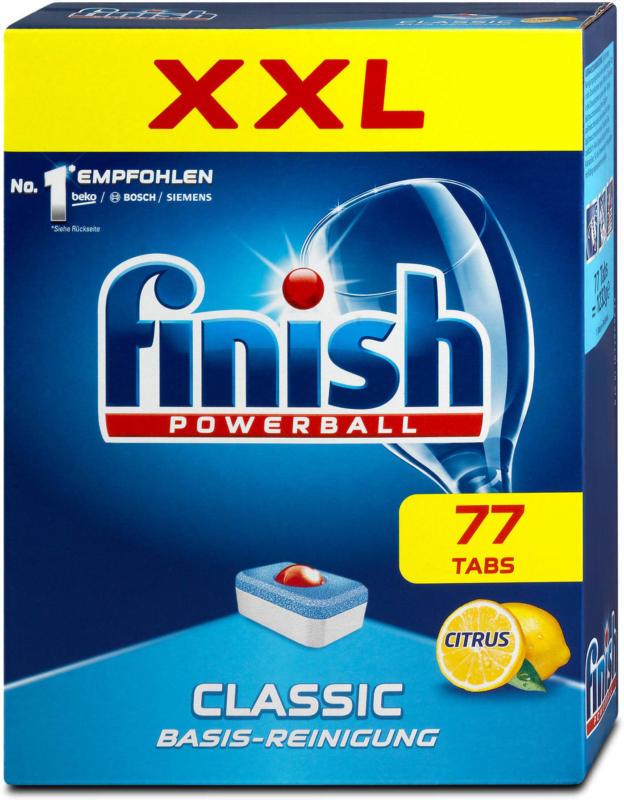 finish Powerball Classic Geschirrspüler Tabs Citrus XXL Pack