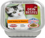 dm Dein Bestes Katzen Kinder Katzenfutter mit Huhn in Sauce