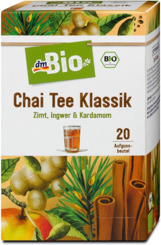 dmBio Chai Tee Klassik Zimt, Ingwer & Kardamom