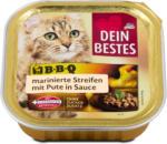 dm Dein Bestes Katzenfutter BBQ marinierte Streifen mit Pute in Sauce